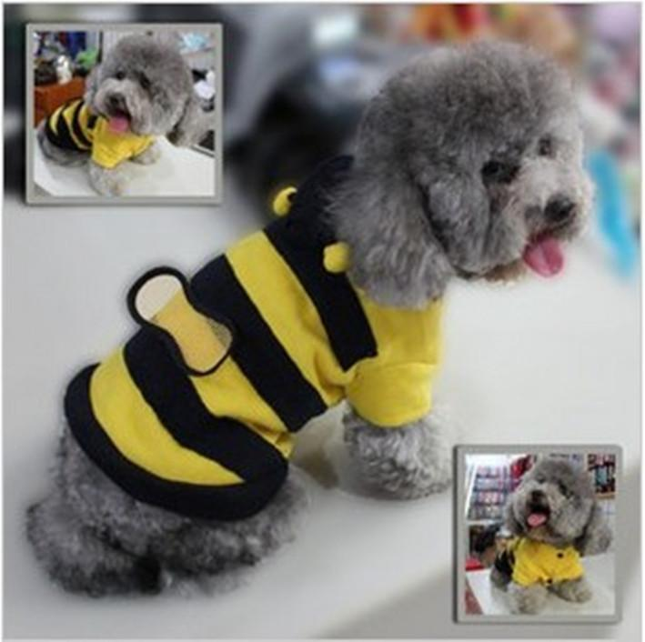 Factory direct pet clothes lovely bees pack dog clothes Teddy VIP dog clothes