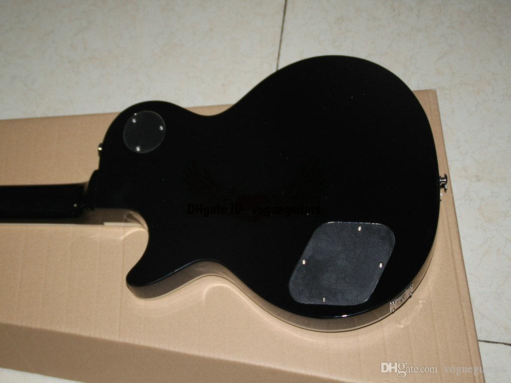 Nueva Llegada Custom Shop Axcess Guitarra Eléctrica caoba cuerpo gris llama OEM envío gratis