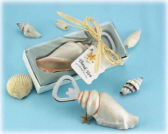 mar escudo abridores seashell garrafa abridor de areia verão praia tema chuveiro favores presentes na caixa de presente