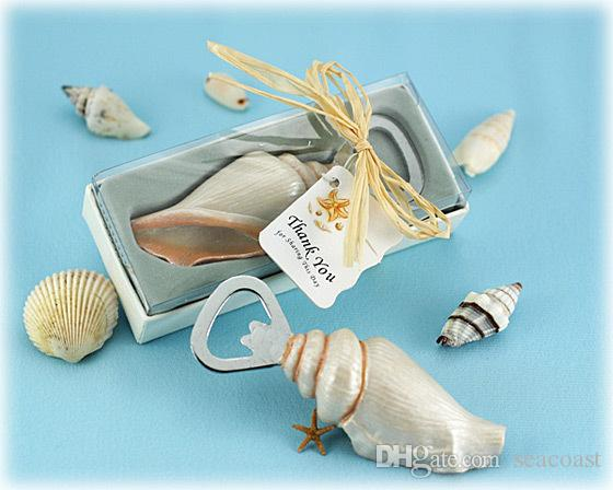 50 قطع البحر شل الفتاحات صدف فتحت زجاجة الرمال الصيف شاطئ موضوع دش عرس الحسنات هدية في علبة هدية