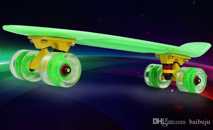 Joven fahison retro mini skate tabla larga l skate 22