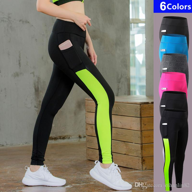 2e4b7e2c0cc 2019 Sexy Womens Gym Long Yoga Pants With Pocket Sports Trousers Women  Compression Running Pants Skinny Fitness Tight Leggings From Ethanlin82