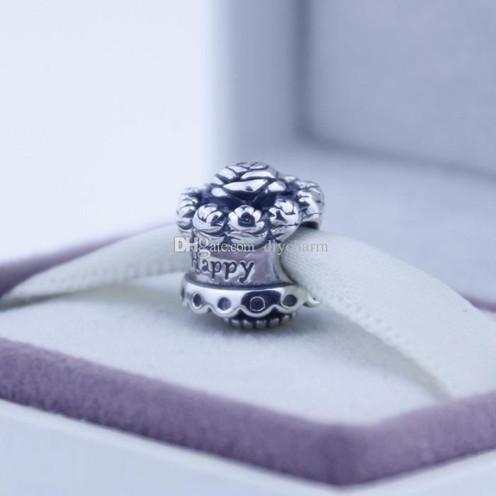Свободные бусины, пригодный для pandora браслеты стерлингового серебра 925 бусины Серебряный с Днем Рождения Шарм DIY мода ювелирные изделия для женщин 1 шт./лот