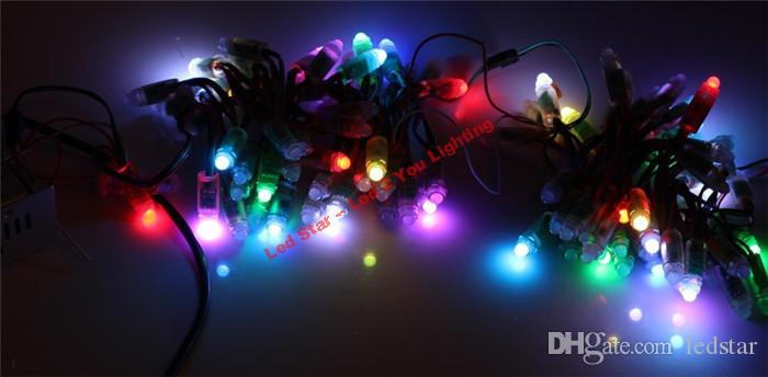 WS2811 led Pixel Modules DC 5V 12mm IP68 RGB diffused addressable + T1000S Controller +60A 300W Power adapter