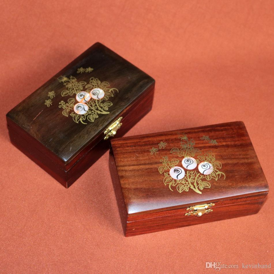 African Siam wooden jewelry box for necklace rings bracelet storage case wedding decoration desk decor gift