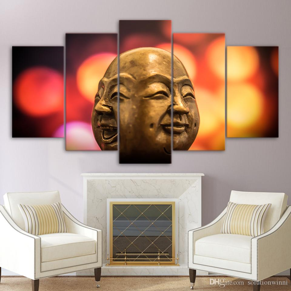 Buddha Conflict Doll Face Canvas Paintings Home Decor Wall Art Framed Posters HD Prints Pictures Painting