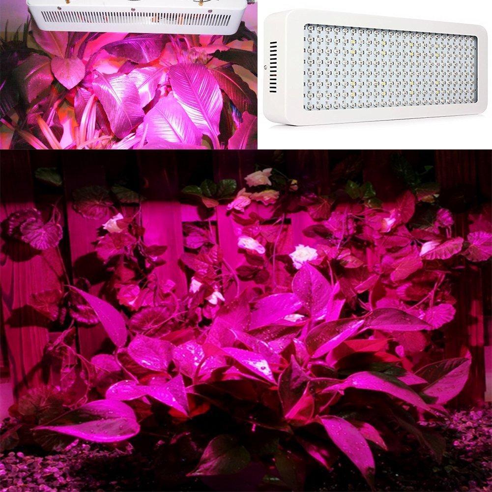 1200W Led Grow Light Lamp Full Spectrum Panel Lamp 200X6W Led Chips for Hydroponics System Indoor Plants Veg Flower Bloom Grow Light Bulb