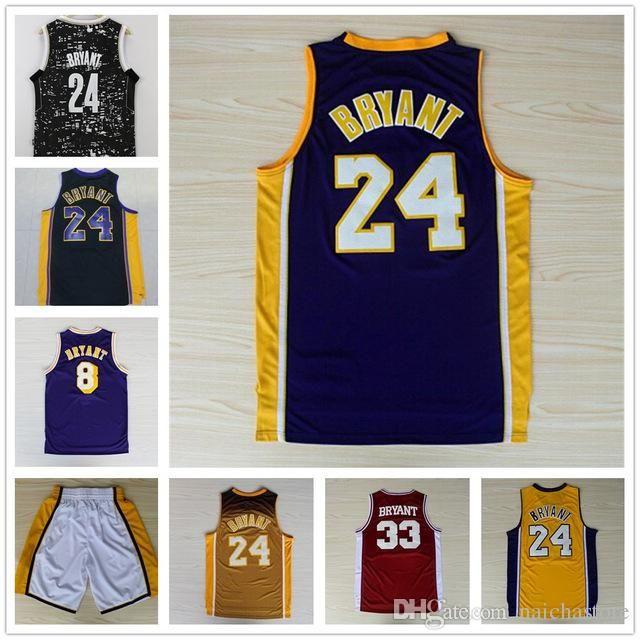 ea5bc91db ... 2017 2017 Wholesale MenS 24 Kobe Bryant Jersey Throwback Cheap 8 Bryant  Jerseys Size S Xxxl ...