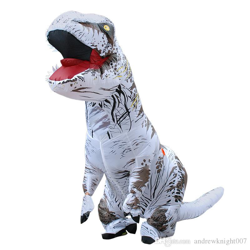 DHL Factory Made Halloween Christmas Adult T-REX Inflatable Costume Cosplay Dinosaur Animal Jumpsuit Costume for Party Festival
