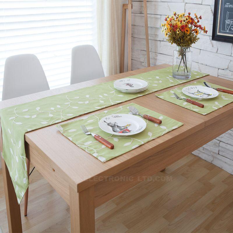 Table Runner Mat Mediterranean Custom Cotton Material Tea Table - Custom dining room table runners