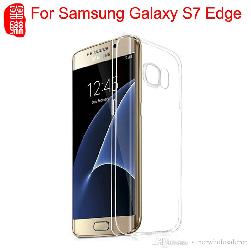 new styles f5e23 a6433 For Samsung Galaxy S7 edge Case Crystal Transparent Silicone Protective  Cover Ultra Thin 0.3MM Soft TPU Clear Case