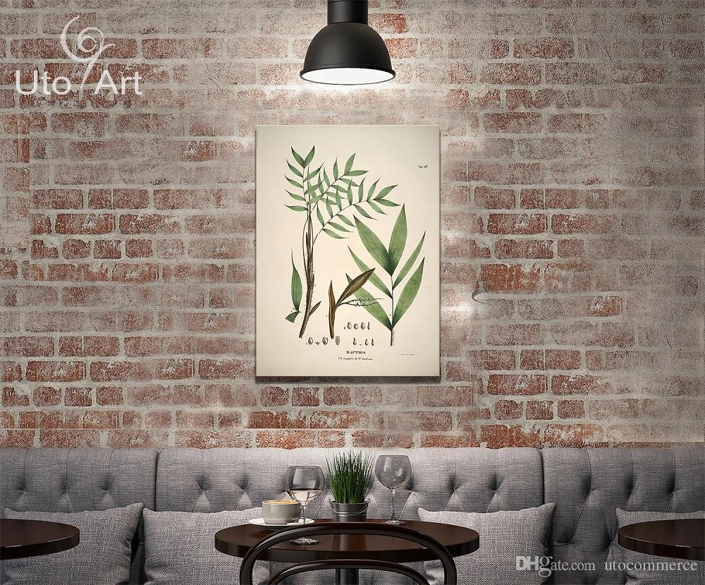 HD Modern Custom Wall Decoration Painting Plant Digital Picture Spray Printed Canvas Leaves Photo On Canvas For Living Room