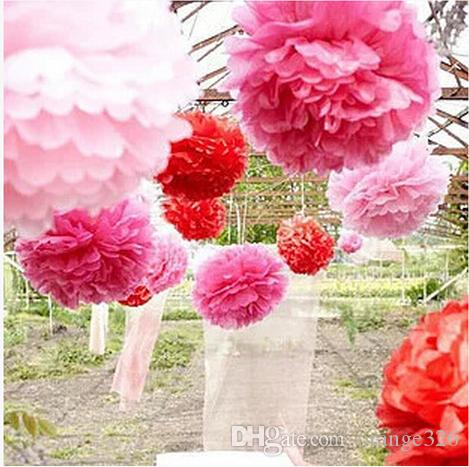 2018 hanging ball flower decorative tissue paper pom poms flower 2018 hanging ball flower decorative tissue paper pom poms flower balls pompom artificial paper flowers diy wedding party home decor from orange326 mightylinksfo