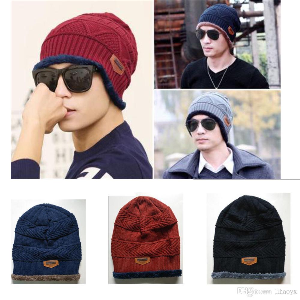 Unisex Winter Warm Hip Hop Skullies Beanie Men Women Knitted Hat ... d8352338f30f