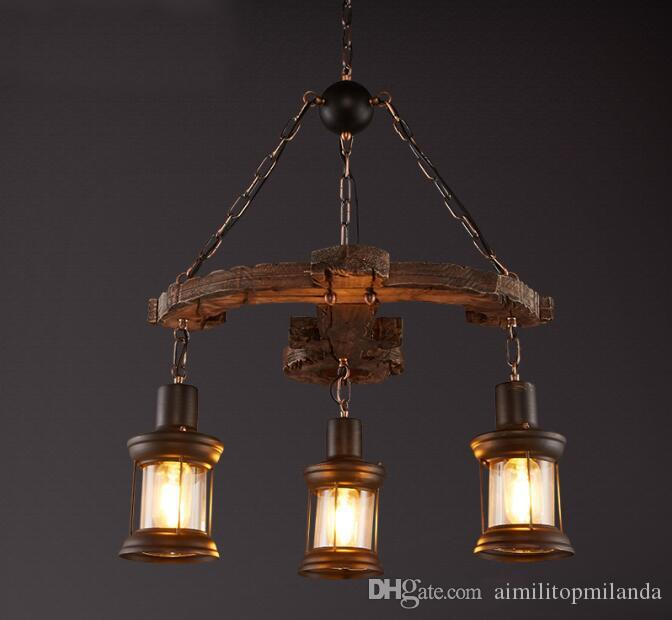 discount american creative industrial style vintage coffee house bar clothes shop wood art pendant lamp screw in pendant lights black pendant lights from