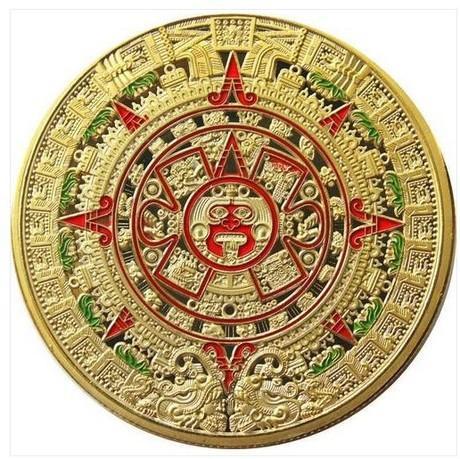 Il Calendario Maya.Il Calendario Maya 2012 Del Calendario Di Profezia Dell Oro Del Calendario 1oz 24k Mayan Del 2012 Libera Il Trasporto 5pcs Lot