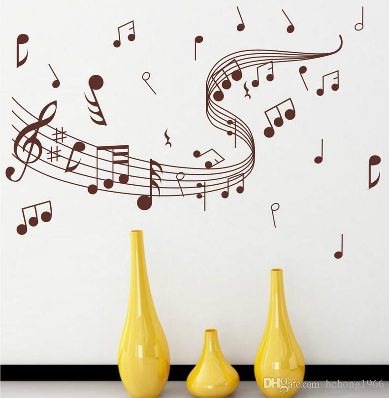 music symbol wall stickers personality fashion hand decorate art