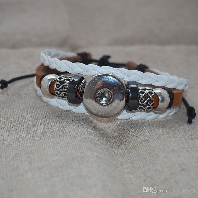Bracelets Fit Snaps Boutons 18mm avec noeud ajustable Livraison gratuite