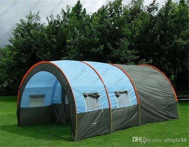 Outdoor 5 6 8 10 Persons Family Camping Hiking Party Large Tents 1 Hall 2 Room Waterproof Tunnel Tent Event Beach Person From