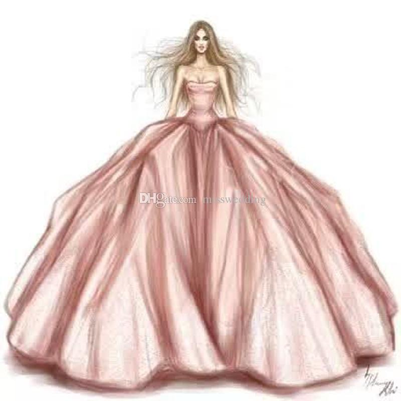 Professional Designer Drawing Puffy Off Shoulder Fashion Dress ...