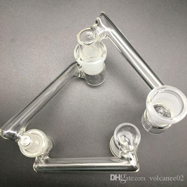 Commercio all'ingrosso 14 maschio a 18 femme Caduta adattatore bonificatore 10mm 14mm 18mm maschio femmina di vetro Dropdown adattatore di vetro olio rigs adattatori