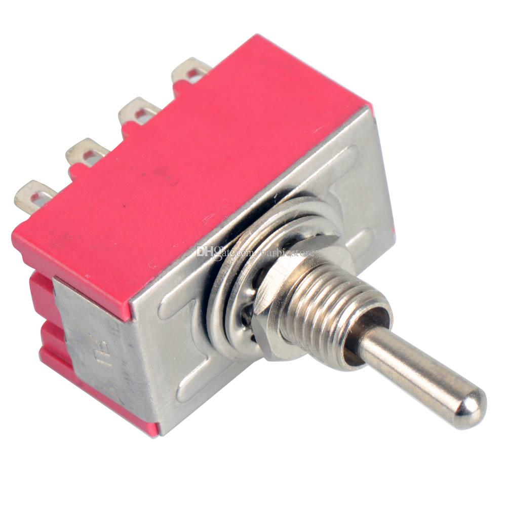 12-Pin Mini Toggle Switch 4PDT 2 Position ON-ON 2A250V/5A125VAC MTS-402 B00021 BARD