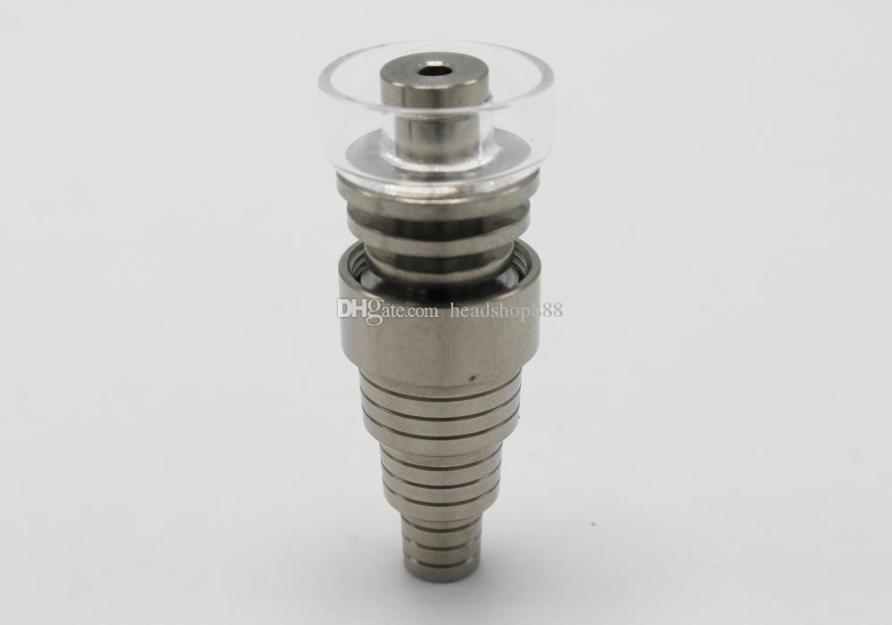 Универсальный титановый ногтей 10 мм14 мм 18 мм 6 в 1 Регулируемый мужской или женской суставной карбовой гвозди для бонг стеклянные водопроводные трубы