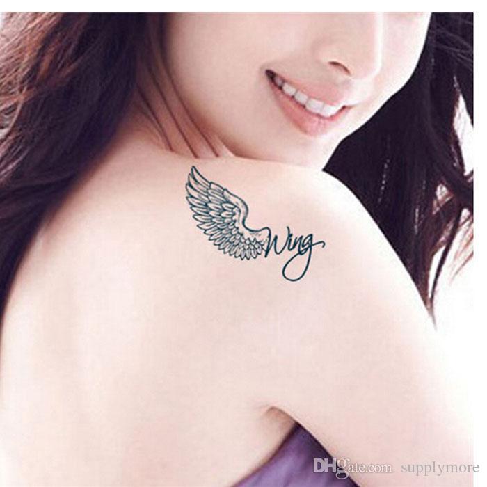 Sexy Brief Adler Flügel Design Temporäre Tätowierung Aufkleber Body Art Fake Tattoo Wasserdichte Tätowierung Aufkleber für Frauen