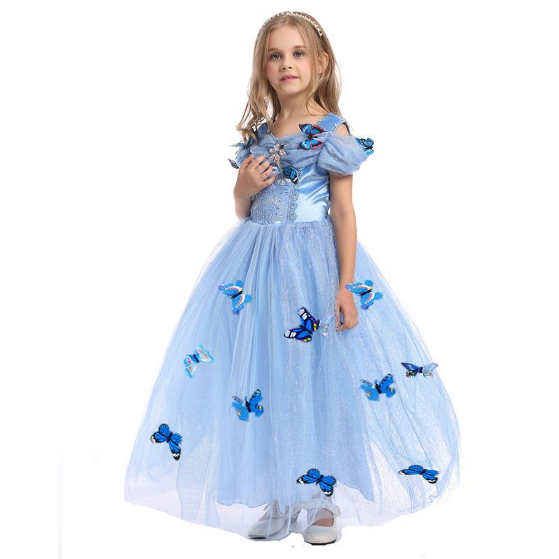 2016 nuove neonate Cenerentola vestire i bambini di Natale vestire i vestiti bambini tutu gonne cosplay con farfalla C-7