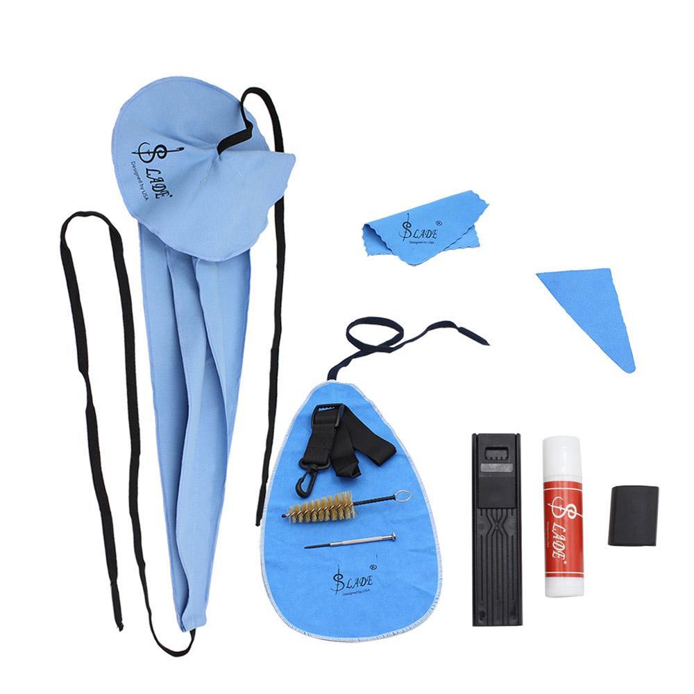 Kit de Cuidados de Limpeza de Saxofone 10-em-1 Cortiça Graxa Polegar Resto Reed Caso Bocal Chave De Fenda Instrumentos de Sopro De Madeira peças