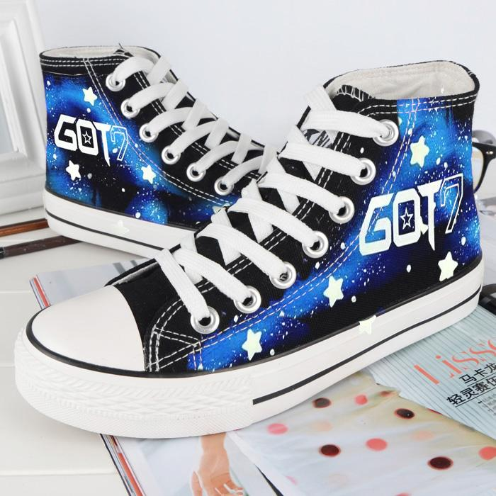 Got7 Korean Star Korea Band High Top Canvas Shoes,Lovers Shoes Fashion  Walking Shoes Flat Shoes From Myhihihishop, $88.45| Dhgate.Com