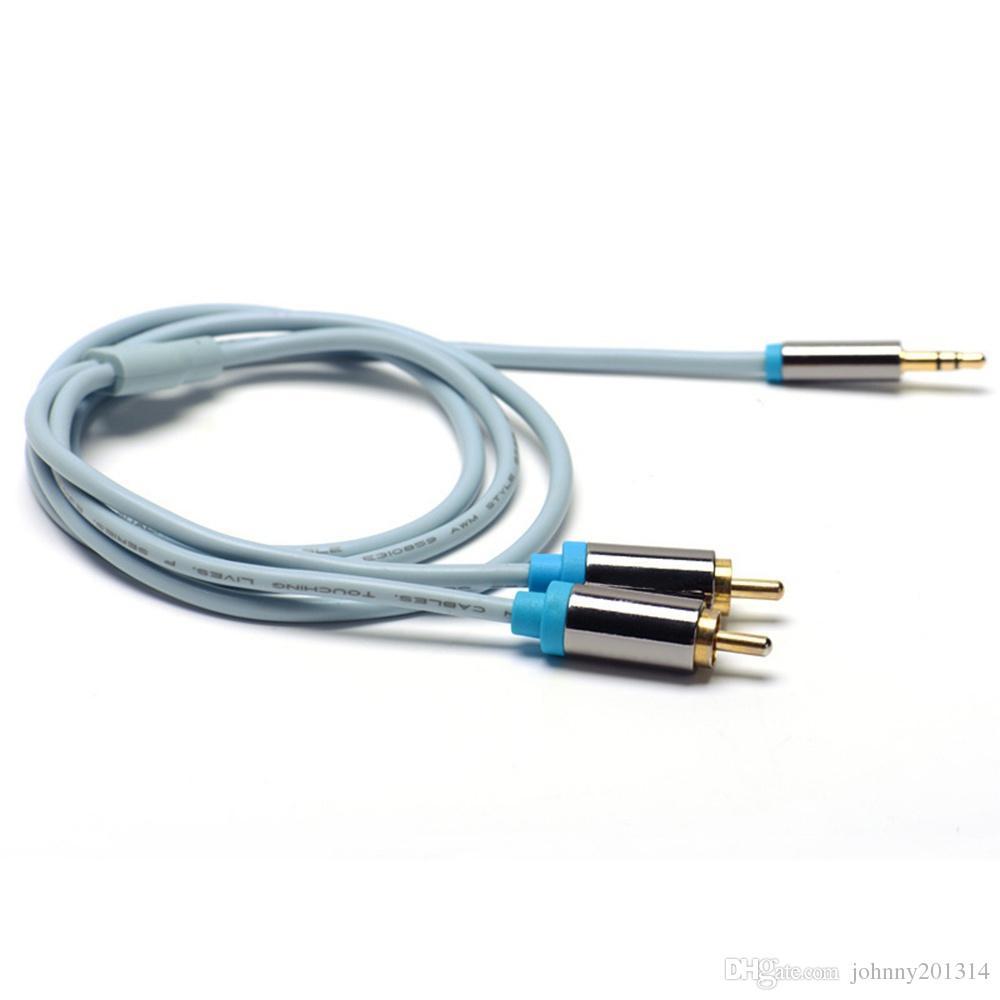RCA Jack Cable 2 RAC mâle à 3.5 mâle Aux Câble pour Edifer Home Theater DVD Téléphones DHL Gratuit