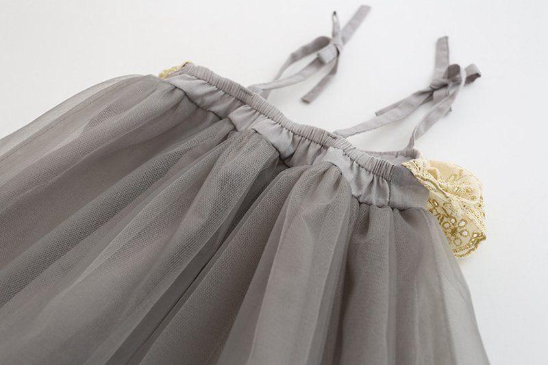 INS Summer Fashion Flower tutu dresses Girl's dress sleeveless vest ribbon pure cotton net yarn baby lace dress 2-6Year
