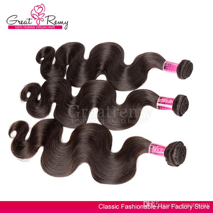 Remy-Haar-Verlängerungs-Körper-Wellen-Haar-Schuss-Grad 7a Haar-Webart-Jungfrau-Haar-Bündel / Chinesischer Körper-Wellen-Haar spinnt Farbe