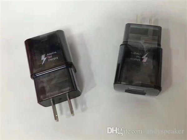 Samsung Galaxy S8 için adaptif Hızlı Şarj S8 Artı Yeni Üst USB Şarj Portu ABD Plug Duvar Seyahat Şarj 100 adet / up