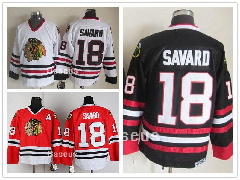 ... germany jersey 2017 men nhl chicago blackhawks cheap chicago 18 denis  savard black red white classic 1251433e5