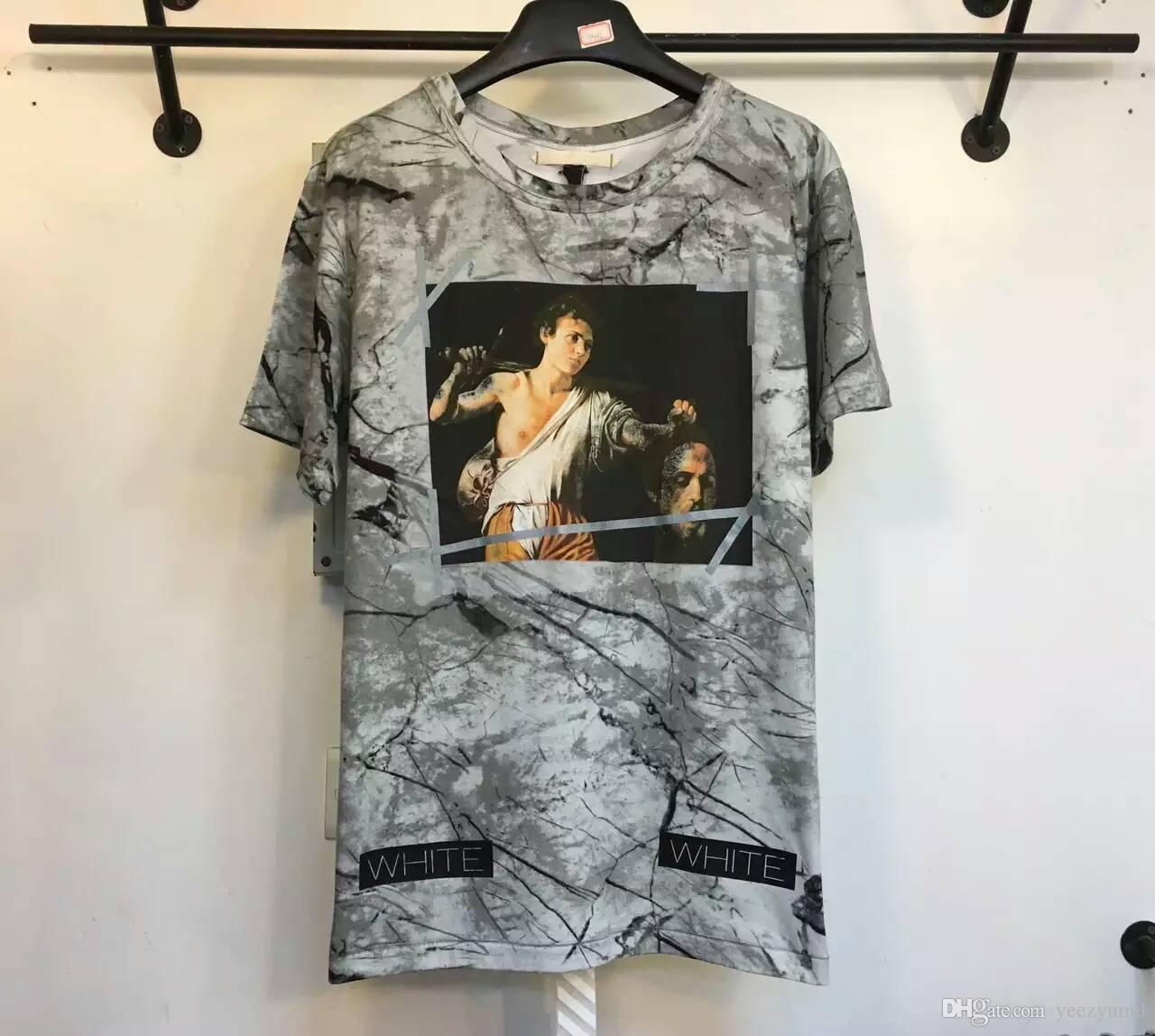Best quality black t shirt - Top Version Off White T Shirts Summer 16 Ss Ow Off White T Shirts Brand Best Edition Print Cotton T Shirt Men Short Tee Hight Quality Graphic T Shirts