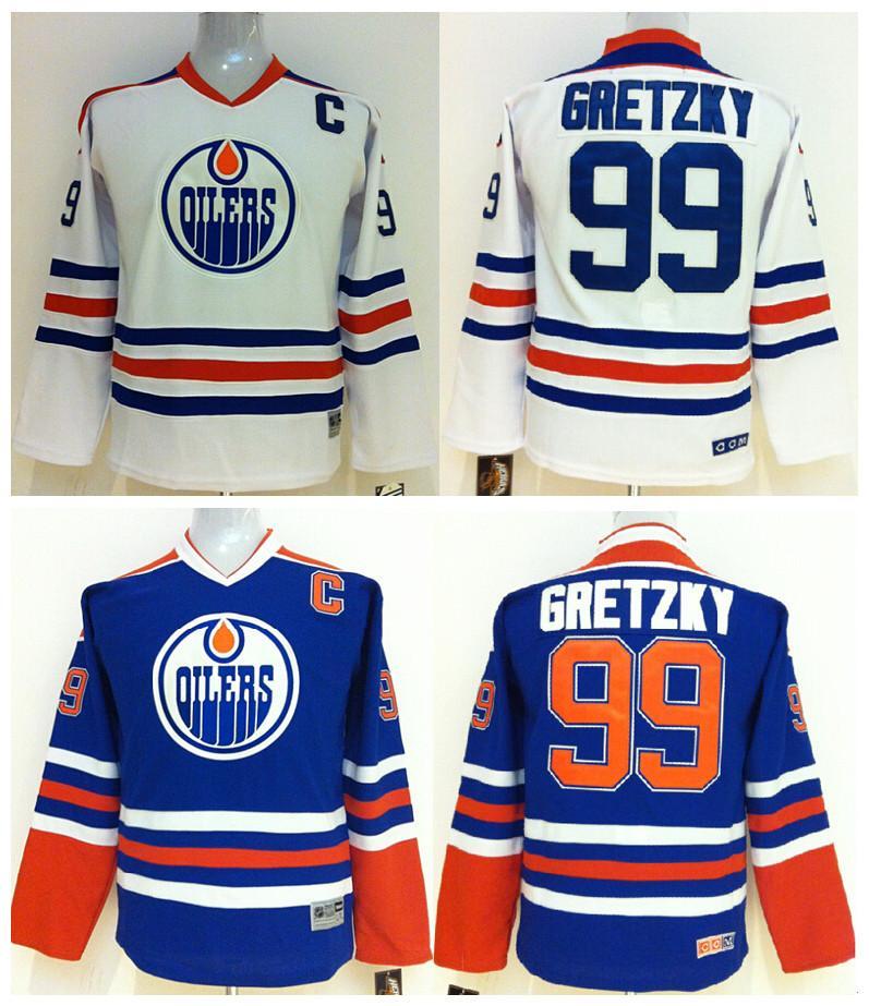 676898f55 Top Quality ! CCM Youth Kids Edmonton Oilers Ice Hockey Jerseys ...