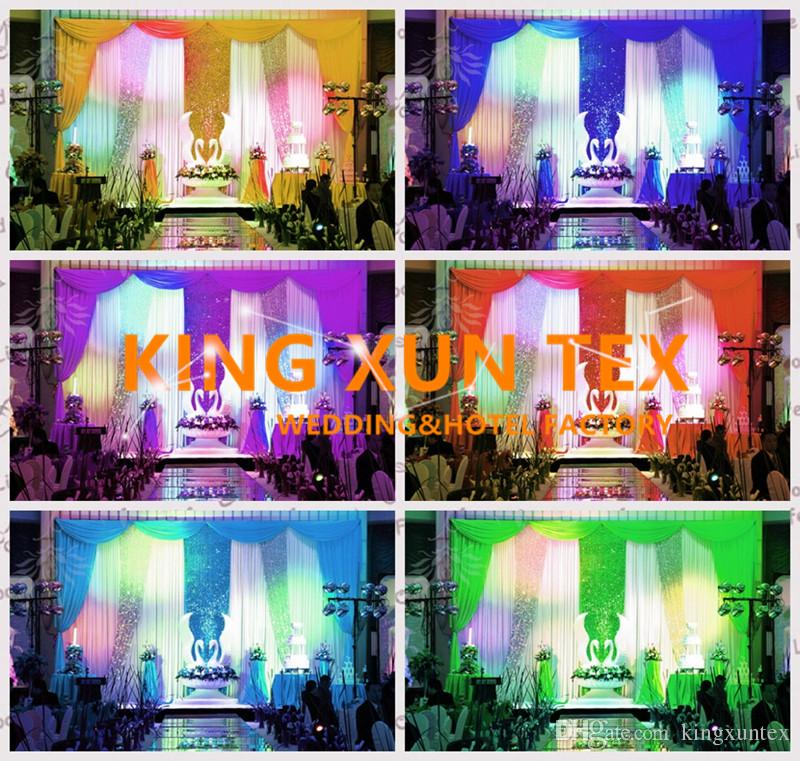 Factory New Design Wedding Backdrop Curtain Include The Color Swag And The Sequin Fabric With Best Quanlity