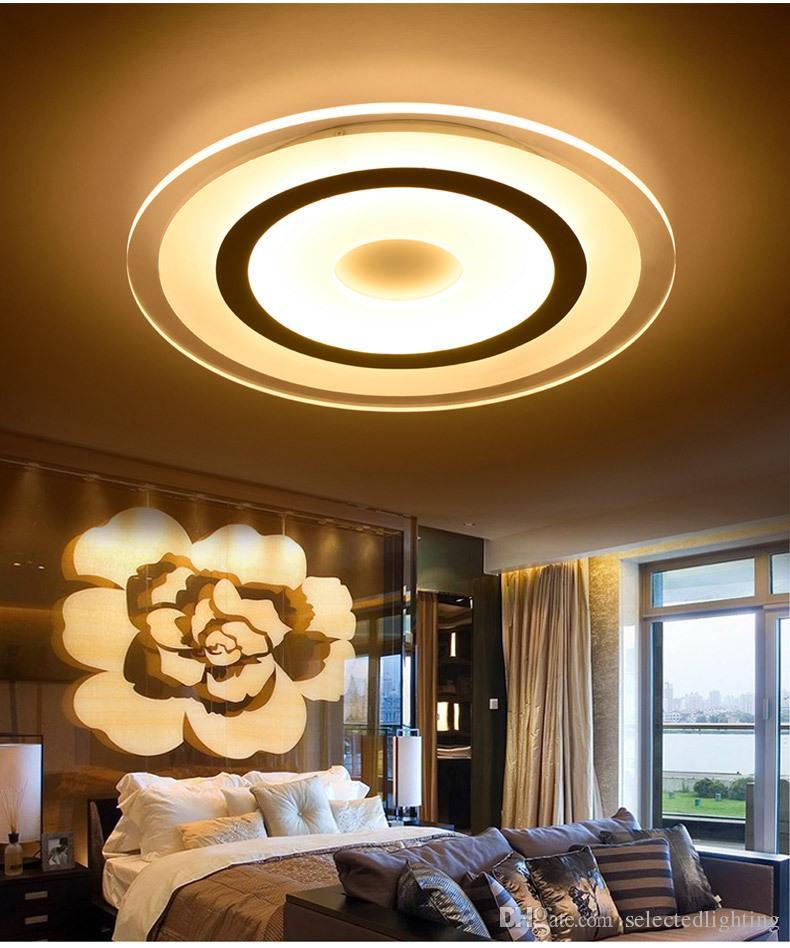 Moderne Led Deckenleuchten Oberfläche Montiert Lampe Wohnzimmer  Schlafzimmer Runde Dimming Deckenleuchte Hause Leuchte Fernbedienung 110 V  220 V