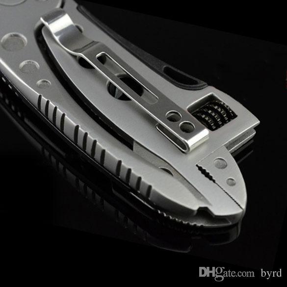 사례 T02008를 가진 뜨거운 판매 다기능 도구 펜치 야외 캠핑 서바이벌 스패너 렌치 펜치 도구 미니 드라이버를