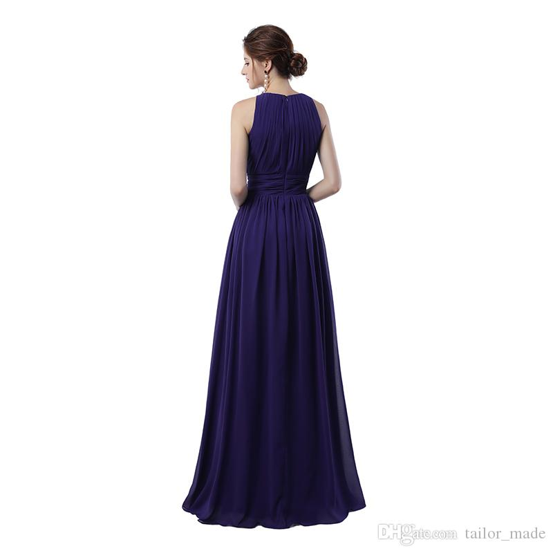 Real sample Regency Formal Evening Party Gowns 2019 A Line Sleeveless and Fast Delivery Cheap Long Prom Dress