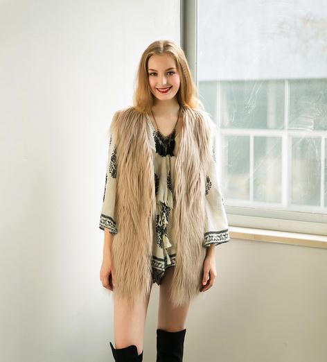 Cappotto invernale da donna Cappotto invernale da donna Cappotto lungo in pelliccia a maniche lunghe a vita alta
