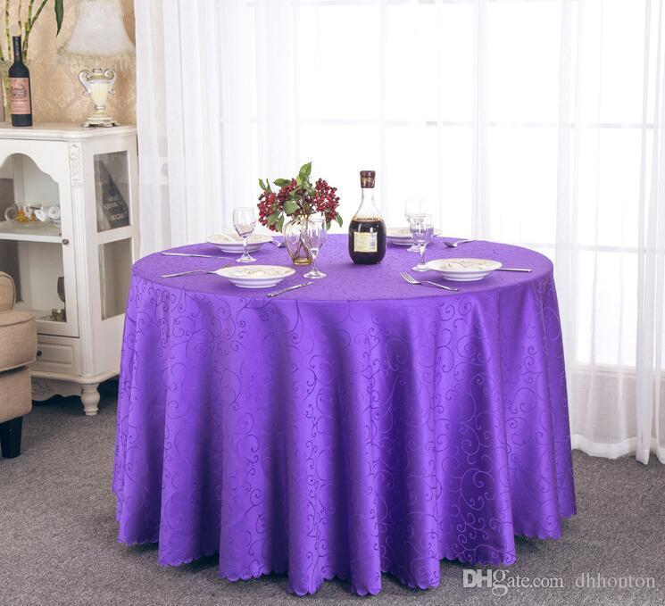 Table nappe Table ronde pour Banquet Noces Décoration de Table Tables Satin Tissu Table Vêtements De Mariage Nappe Textile de Maison WT021