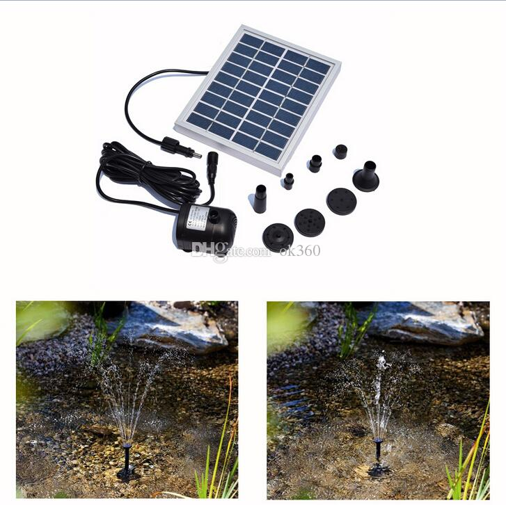 Small Type Solar Pump Landscape Pool Garden Fountains 9V 2W Solar Power Decorative Fountain Water Pumps Garden Pond Submersible Watering