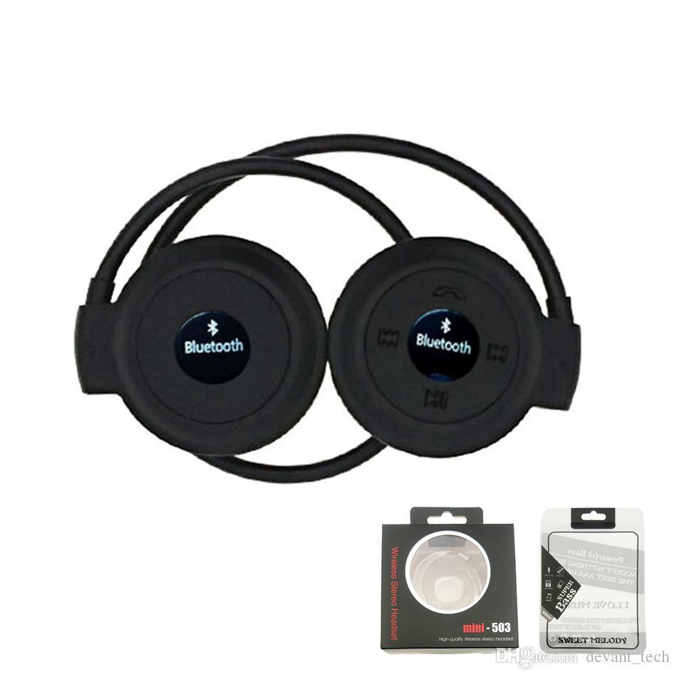 b3d79dc2d0b Mini503 Bluetooth Headset Portable Mini 503 Sport Wireless Headphones Music Stereo  Earphones+Micro SD Card Slot+FM Radio Wireless Earphone Headset For Phone  ...