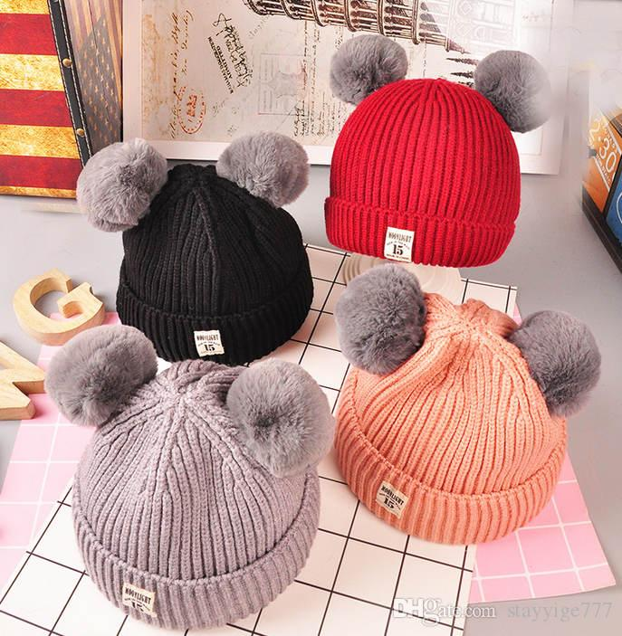 e7d0e71a2 Compre Sombrero Hecho Punto Sombrero De Los Niños Es Un Sombrero De Moda En  Invierno A  3.66 Del Stayyige777