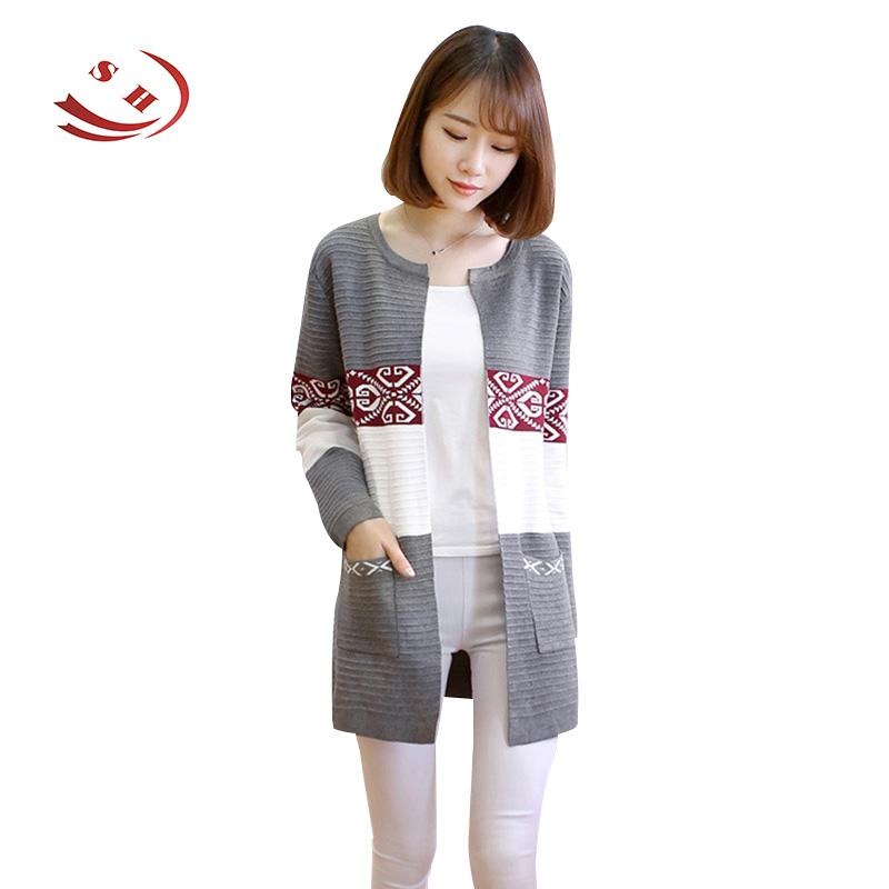 ff7f88168e Wholesale- Women Autumn Spring Open Stitch Sweaters Knitted Coats ...