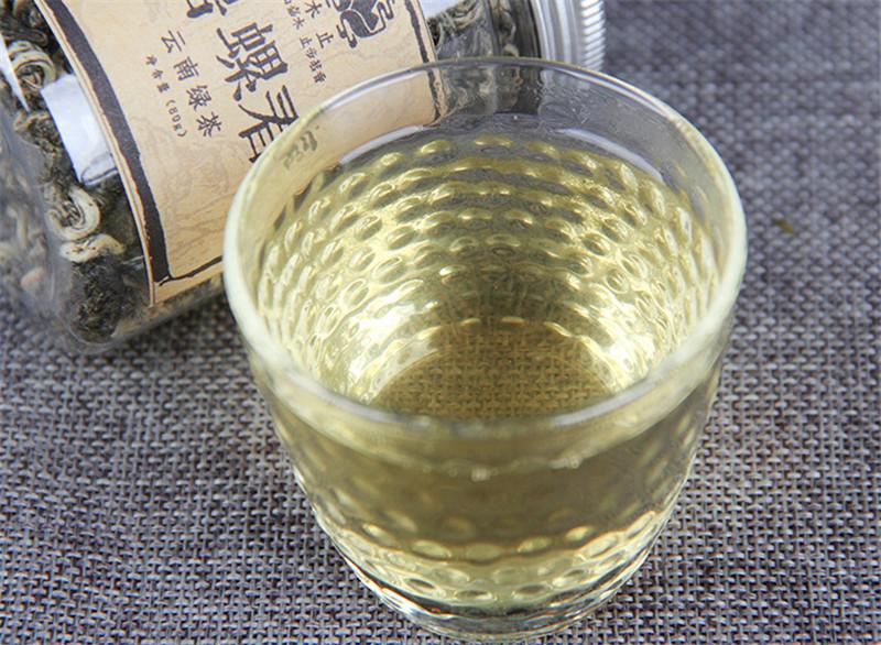 80g Chinese Organic Green tea Yunnan premium Spring biluochun canned raw tea Health Care new Spring tea Green Food Factory Direct Sales