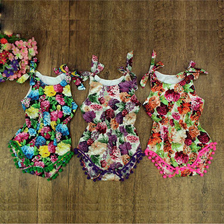 14 Styles Baby Kleidung, Baby Mädchen Floral Striped Bubble Strampler, Petti Strampler, Baby Geburtstag Outfit, Pom Baby Kleinkind Strampler